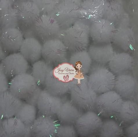 Pom pom Bolinha Festão Branca 1.5cm 100 unidades
