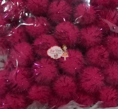 Pom pom Bolinha Festão Pink 1.5cm 100 unidades