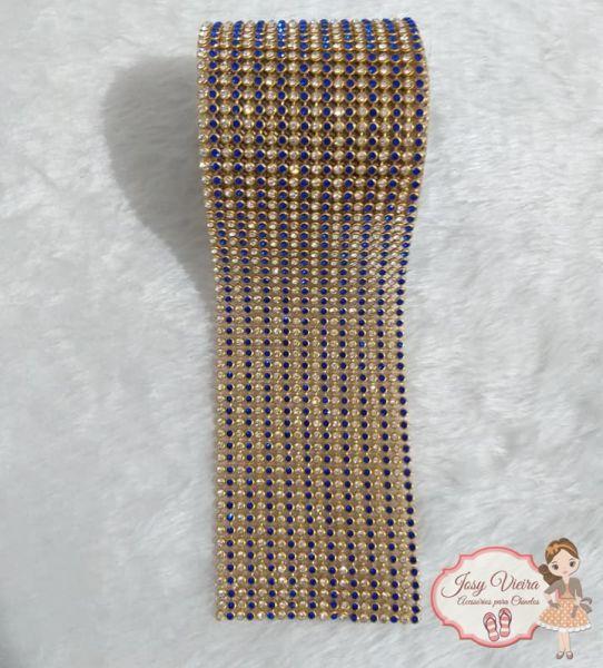 Rolinho de Manta Dourada com AZUL (1,20x6cm)