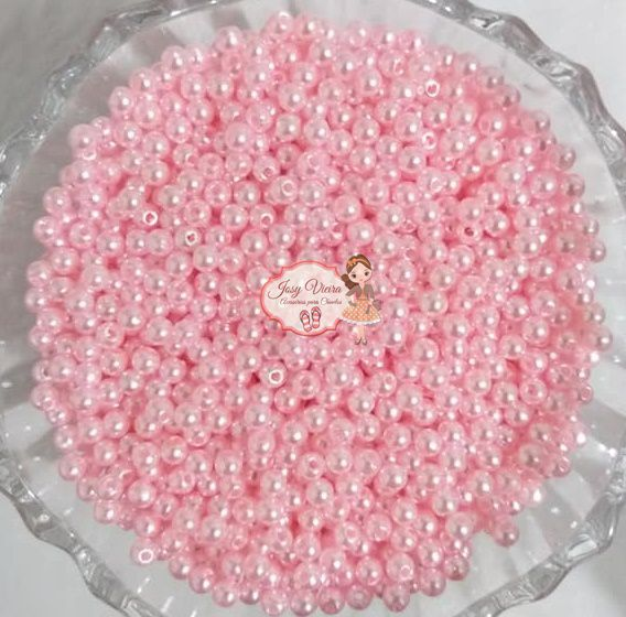 T5 Pérola ABS tamanho 5 cor Rosa Bebê 500g