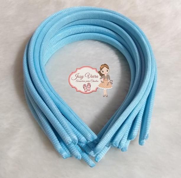 Tiara 10mm Azul Bebê(1 unidade)