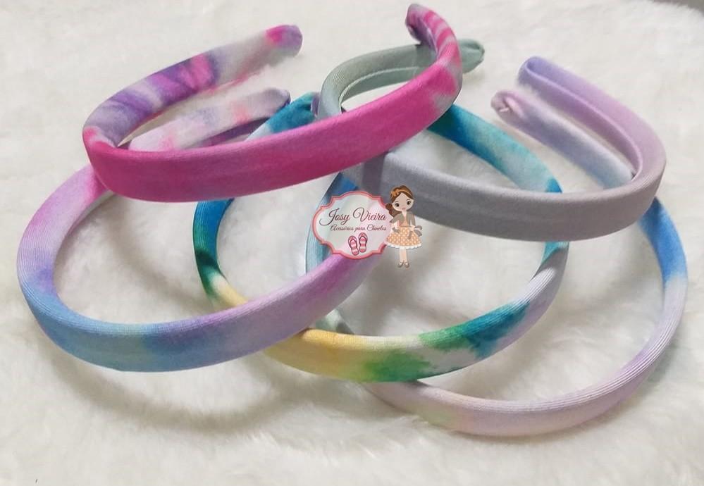 Tiara Tie Dye 15mm (1Unidade)