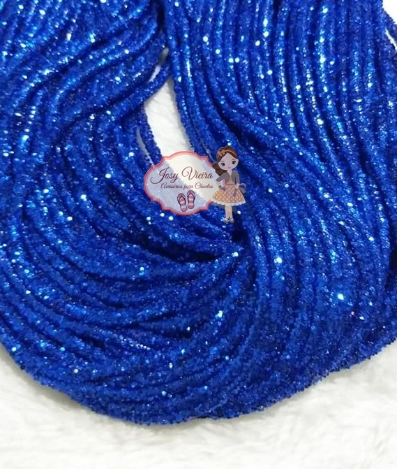 Tubo de PVC com  Glitter Azul  (1metro e 20cm)