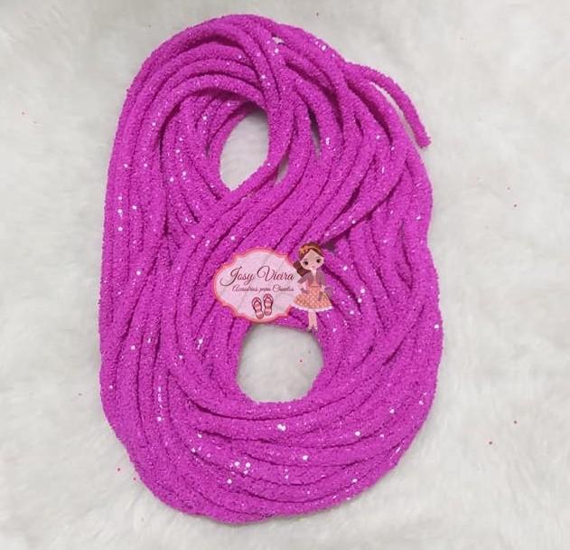 Tubo de PVC com  Glitter Pink Neon (1metro e 20cm)