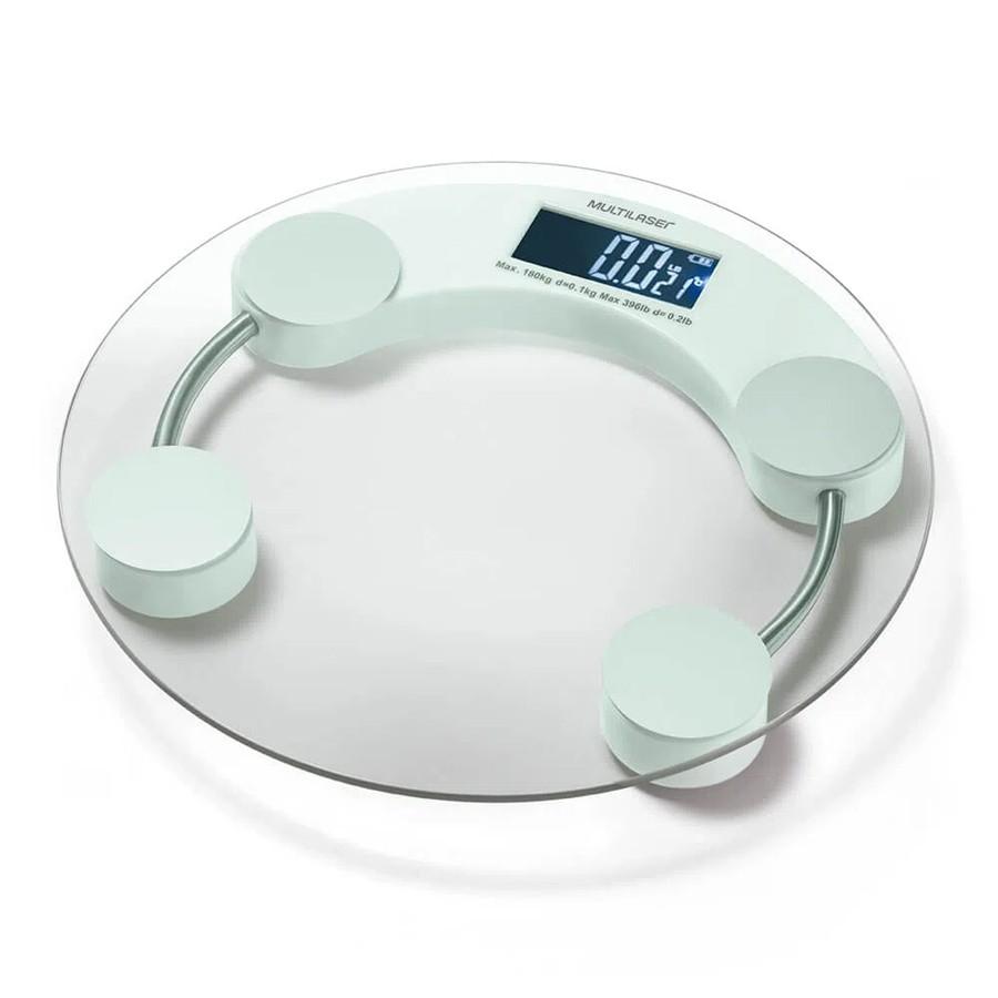 BALANÇA DIGITAL MULTILASER EATSMART LCD BRANCA - HC039