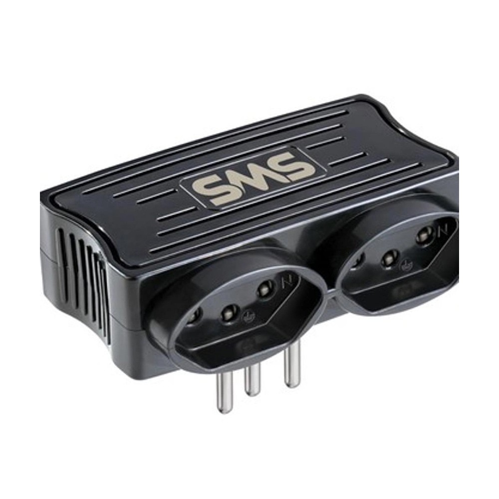 Carregador SMS 2 USB + 2 Tomadas Preto - 62332