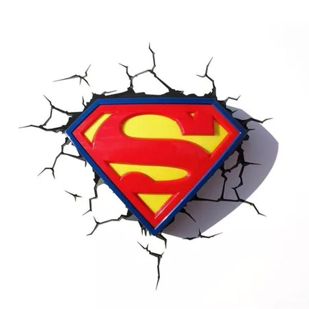 DC COMICS - LUMINÁRIA LOGO SUPERMAN