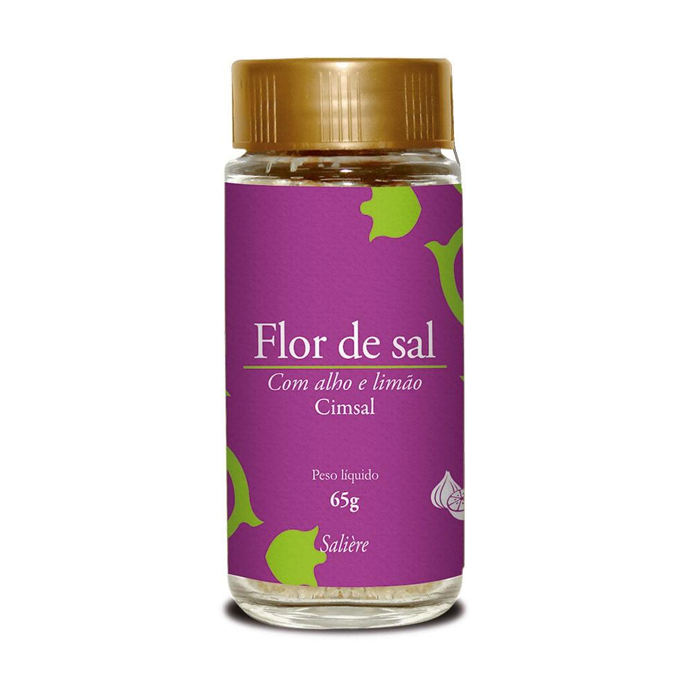 FLOR DE SAL CIMSAL SALIERE ALHO E LIMAO 65G