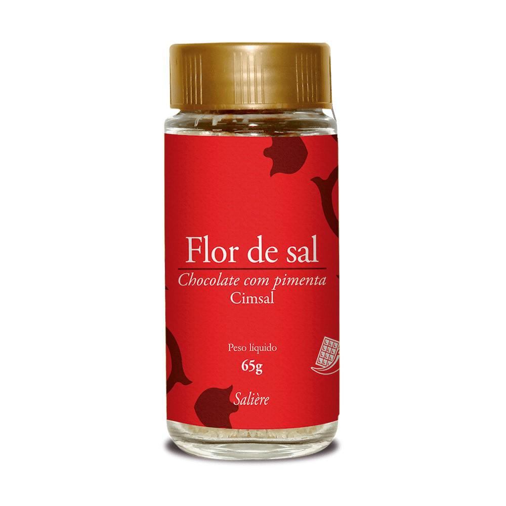 FLOR DE SAL CIMSAL SALIERE CHOCOLATE COM PIMENTA 65G