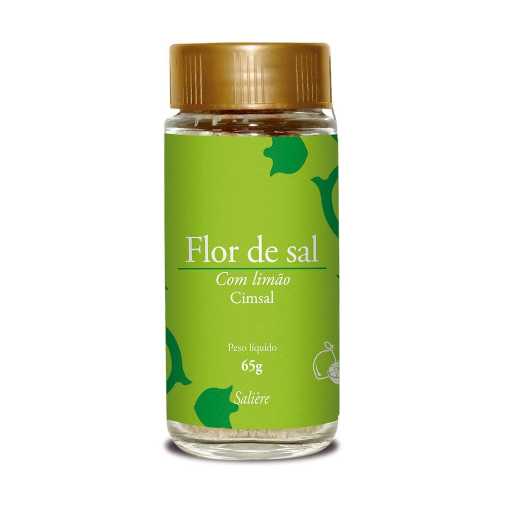 FLOR DE SAL CIMSAL SALIERE COM LIMAO 65G