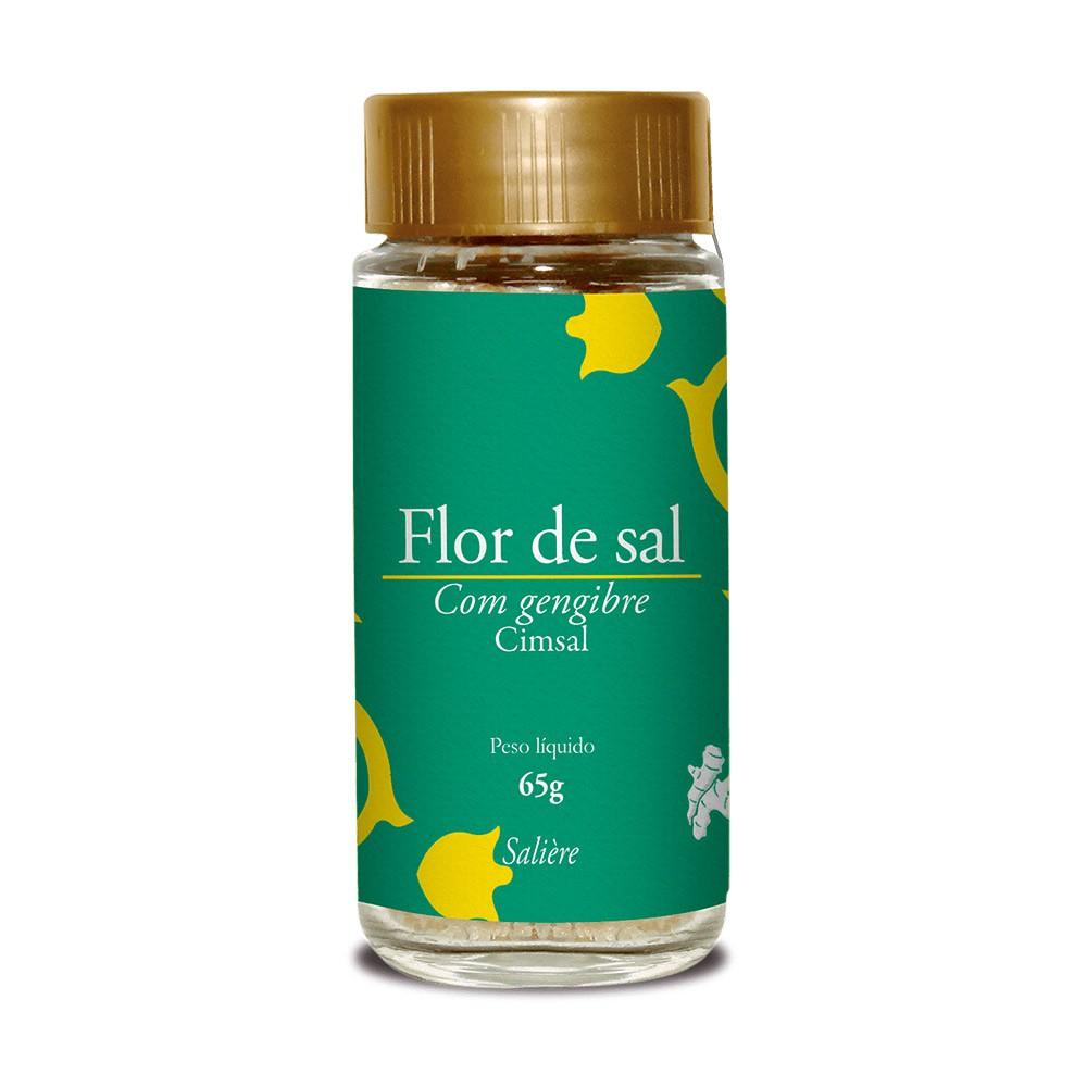 FLOR DE SAL CIMSAL SALIERE GENGIBRE 65G