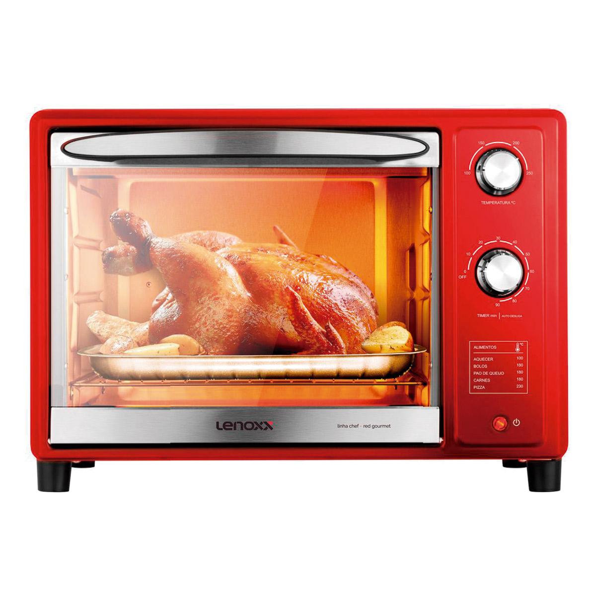 Forno Eletrico Red Gourmet Lenoxx 36 Litros  Pfo309 - 127V