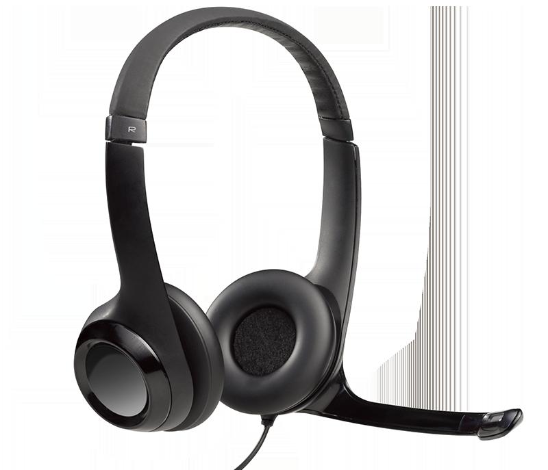 HEADSET H390 AUDIO DIGITAL USB EM COURO - PRETO LOGITECH