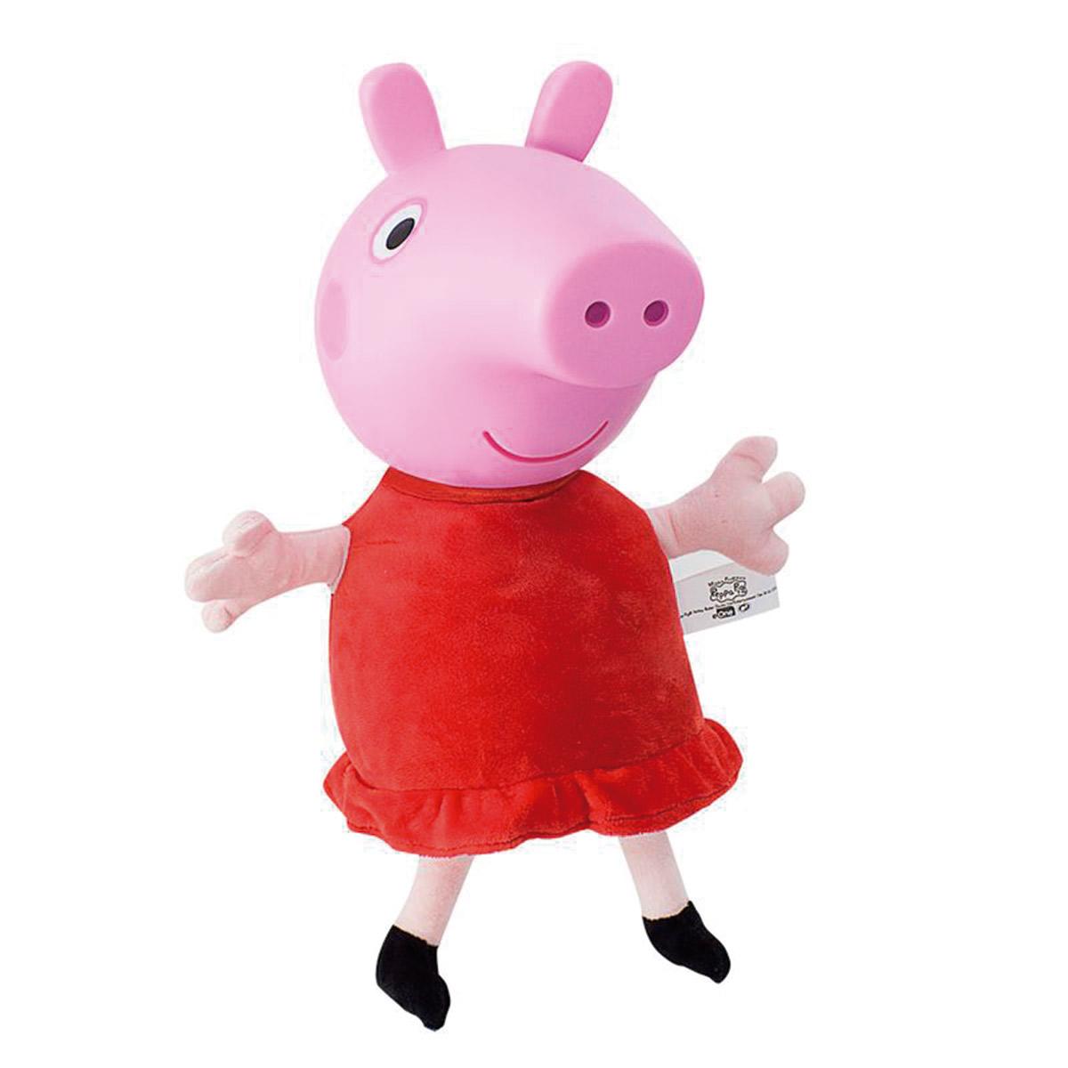 Pelucia Peppa Pig Cabeça De Vinil - Estre