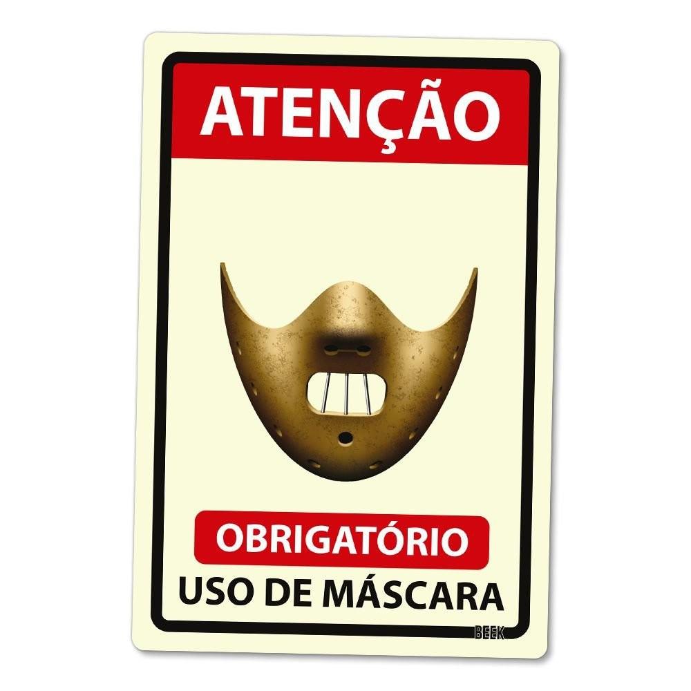 Placa 24x16 Use Mascara - KILLER