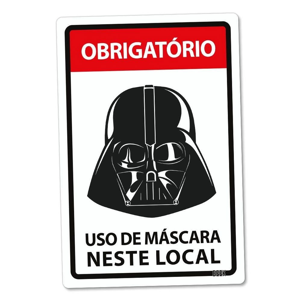 Placa 24x16 Use Mascara - LORDE NEGRO