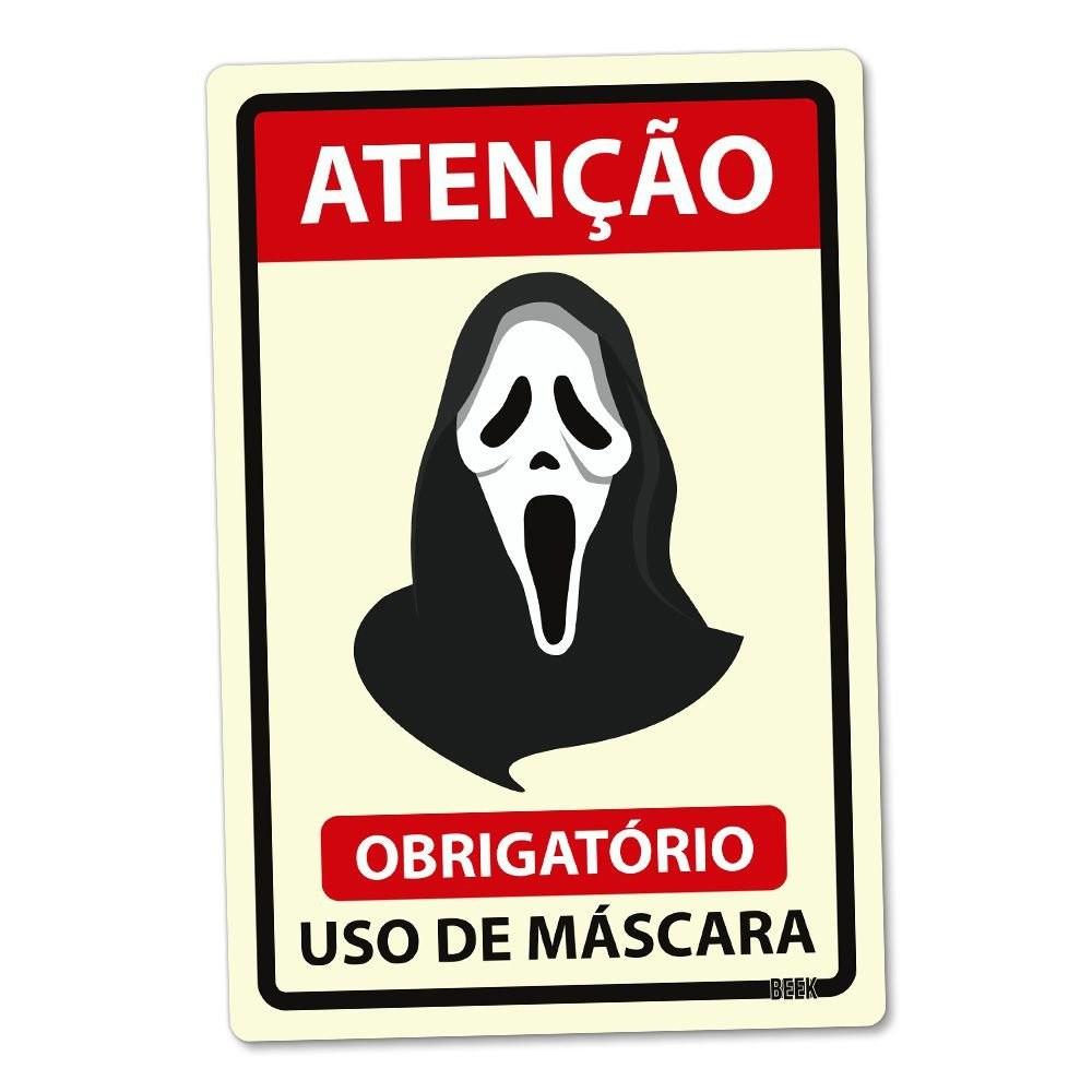 Placa 24x16 Use Mascara - PANICO