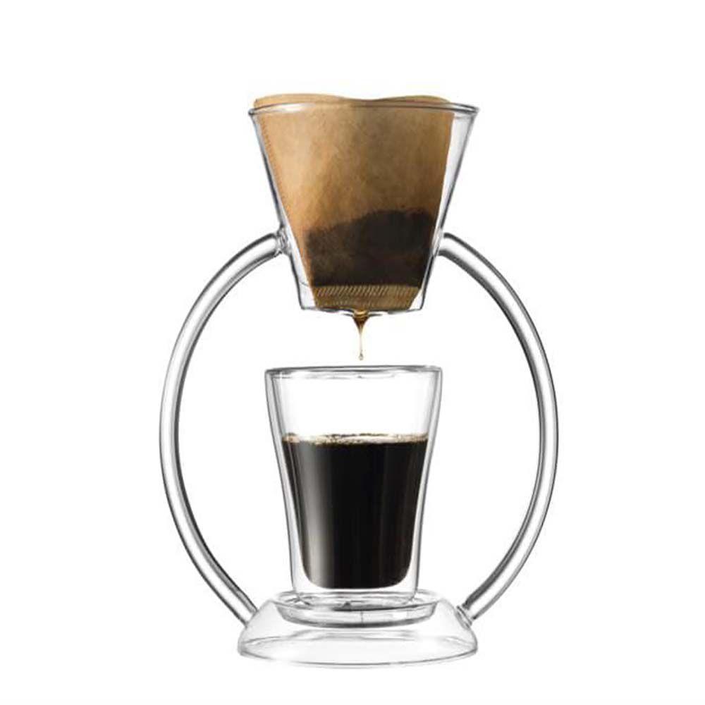 SET DE CAFÉ COADO COM COPO VIDRO DUO