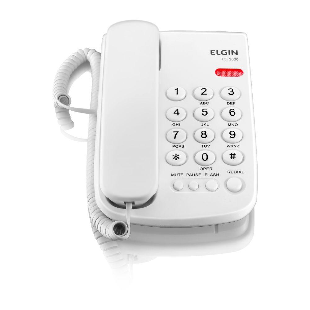 TELEFONE DE MESA COM FIO COR BRANCA