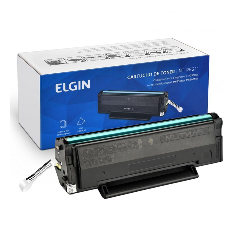 TONER 1600 PG PARA MODELO P2500W M6650WN E M6600N - ELGIN