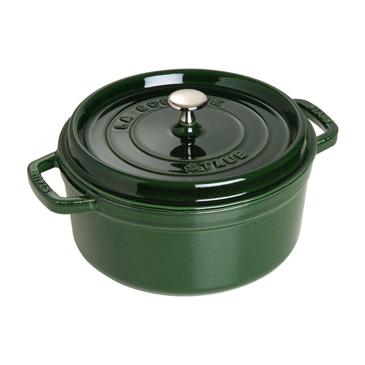 Caçarola Redonda De Ferro Fundido STAUB 24cm Verde Basil