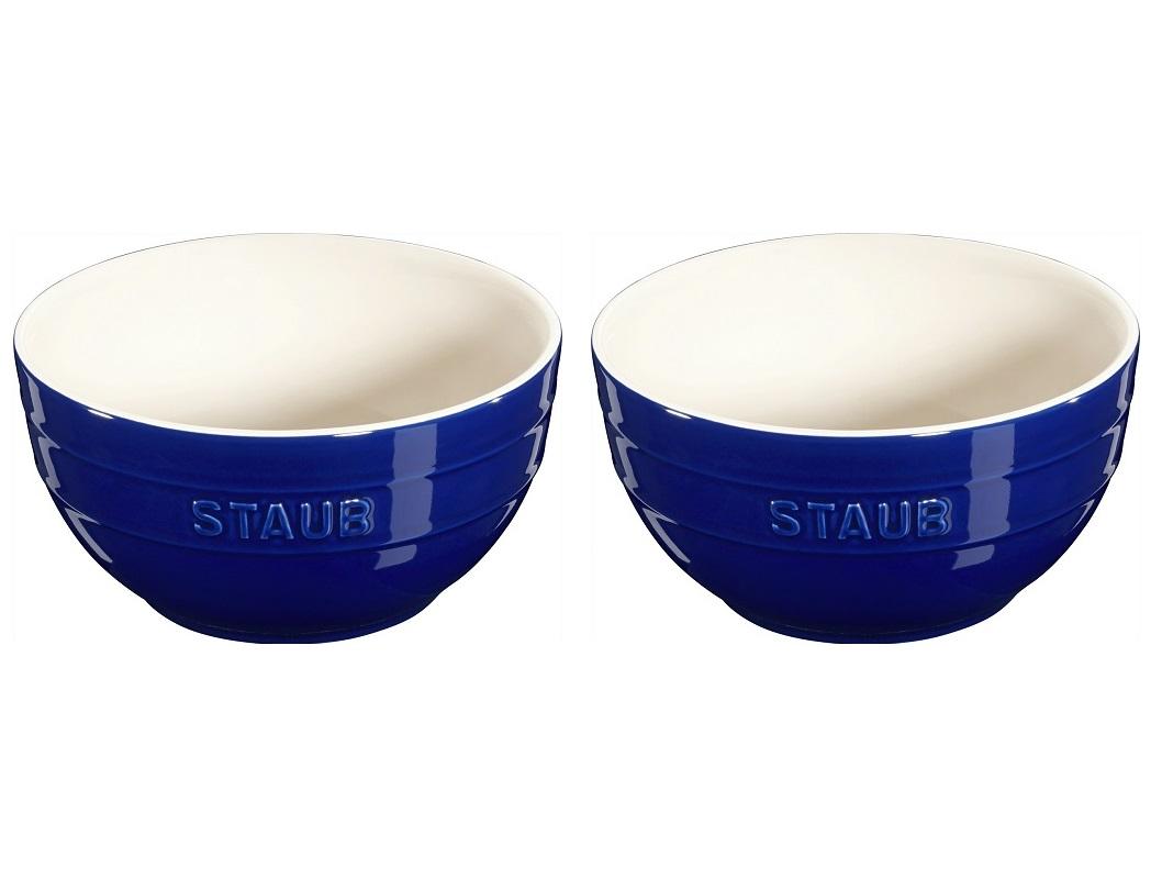 Jogo de 2 Bowls Em Cerâmica Staub 17 cm Azul Marinho