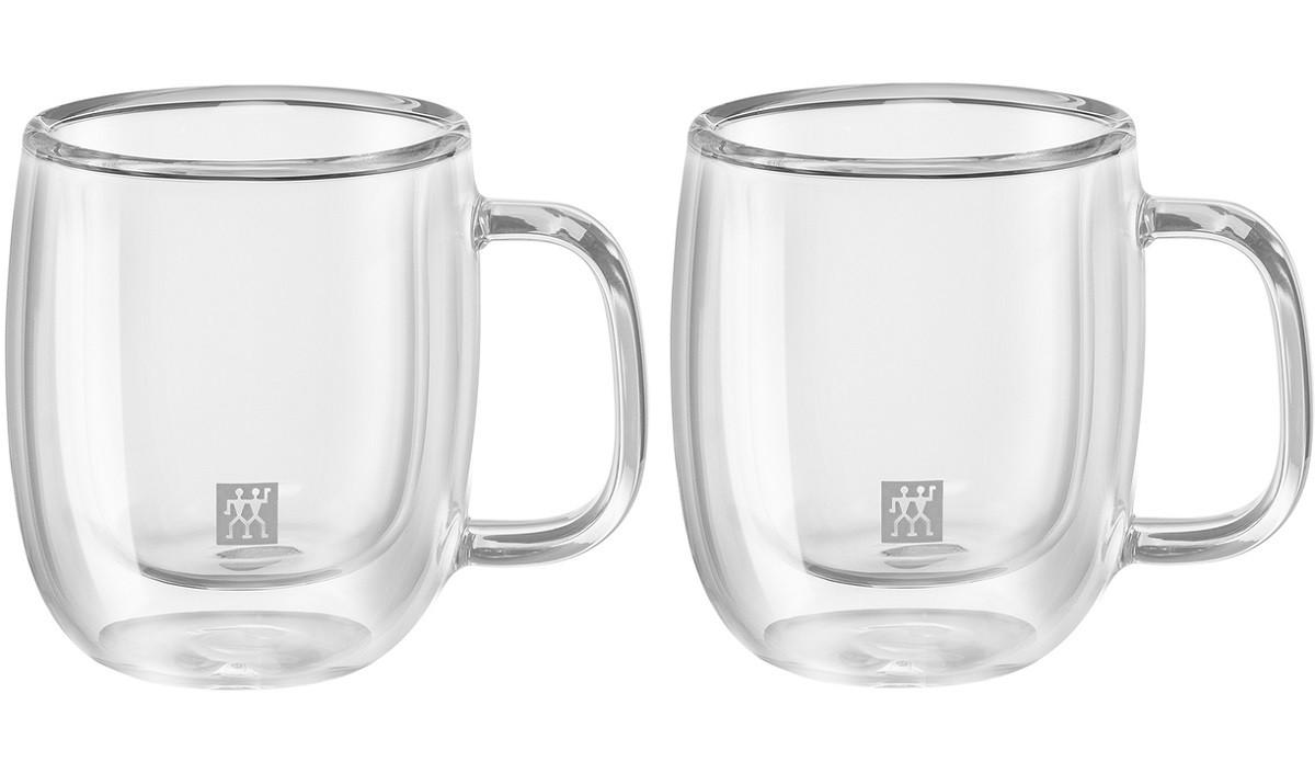 Jogo de 2 Canecas Zwilling Vidro Parede Dupla Espresso 80ml