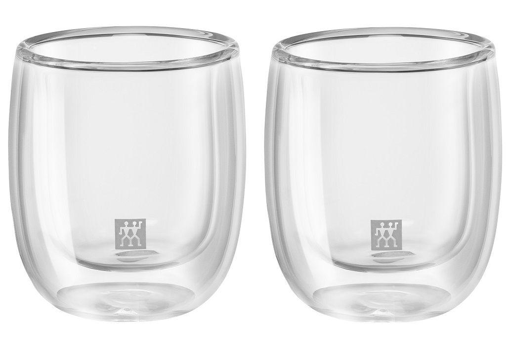 Jogo de 2 Copos Zwilling de Vidro Parede Dupla Espresso 80ml