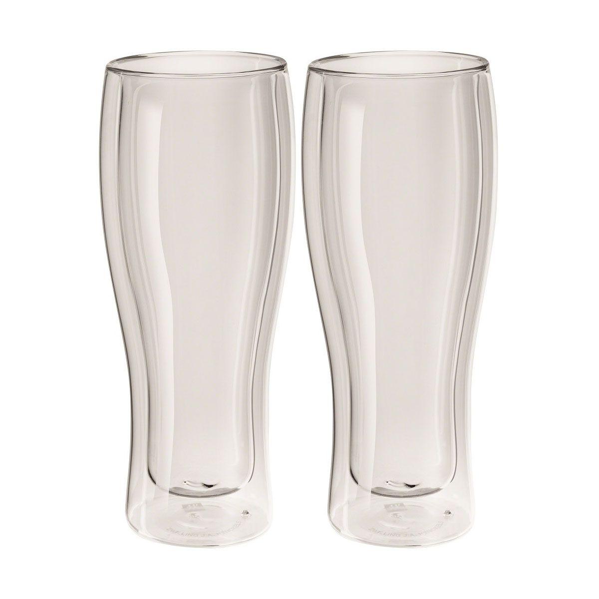 Jogo de 2 Copos Zwilling Vidro Parede Dupla P/ Cerveja 414ml