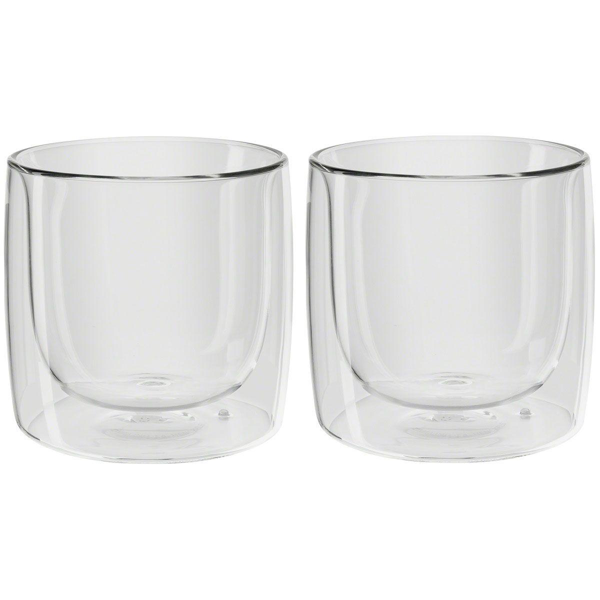 Jogo de 2 Copos Zwilling Vidro Parede Dupla Para Whisky 266ml