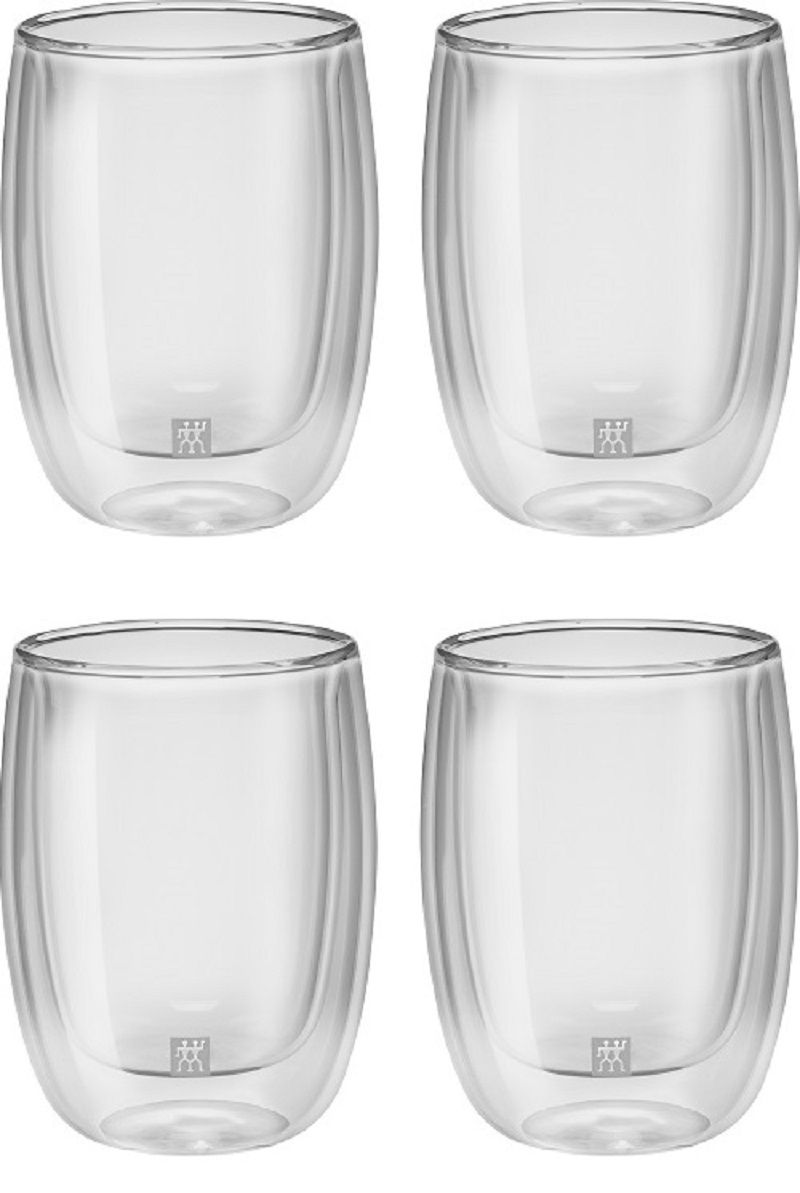 Jogo De 4 Copos de Vidro Parede Dupla para Cappucino 200 ml ZWILLING Sorrento
