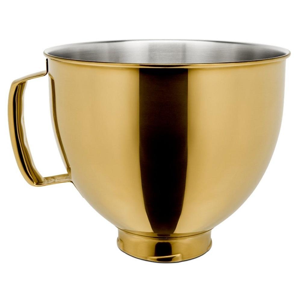 Tigela Bowl KitchenAid Gold Aço Inox 4,73L Para Stand Mixer