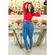 Calça Jeans Premium Cintura Alta Básica