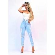 Calça Jeans Premium Destroyed Botões 01