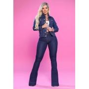 Calça Jeans Premium Flare Básica Escura