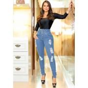 Calça Jeans Premium Modelador Botões - Empina Bumbum