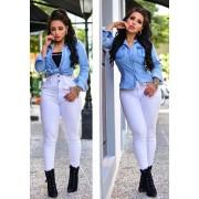 Calça Jeans Premium Modelador Branca - Empina Bumbum