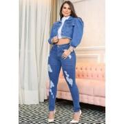 Calça Jeans Premium Modelador Destroyed 03 - Empina Bumbum