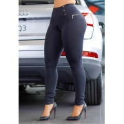 Calça Legging Modeladora com Ziper Preta 02 - Empina Bumbum e Comprime a Barriga