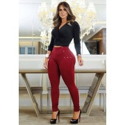 Calça Legging Modeladora Marsala - Empina Bumbum e Comprime a Barriga