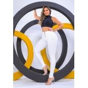Calça Legging Modeladora Pixel Branca - Empina Bumbum e Comprime a Barriga