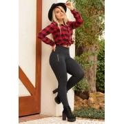 Calça Legging Modeladora Preta Zíper 03 - Empina Bumbum e Comprime a Barriga