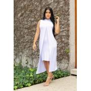 Conjunto de Vestido Tubinho + Sobreposição Branco