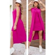 Conjunto de Vestido Tubinho + Sobreposição Pink