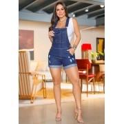 Jardineira Macaquinho Jeans Premium