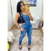 Macacão Jardineira Jeans Premium 02 - Empina Bumbum