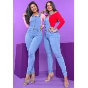 Macacão jardineira Jeans Premium com Botões