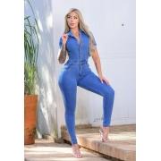 Macacão Jeans Premium com Botões 01