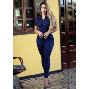 Macacão Jeans Premium Escuro
