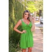 Vestido Curto com lastex Verde